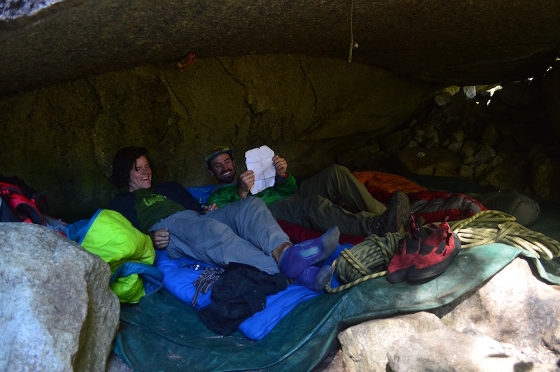 The Bivy Cave in the Anfiteatro