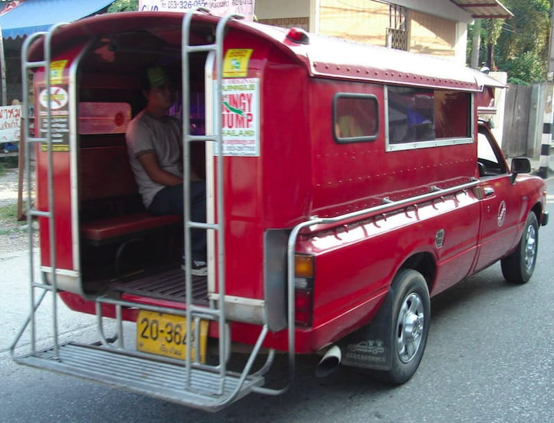 CMRCA truck to crazy horse chiang mai