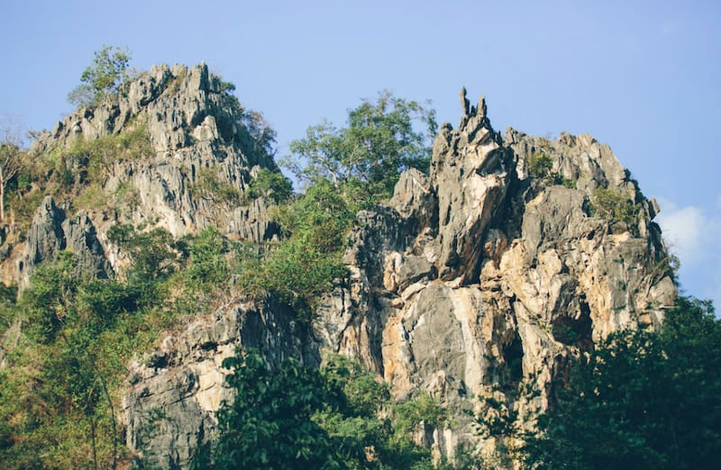 the crazy horse buttress near Chiang mai Thailand