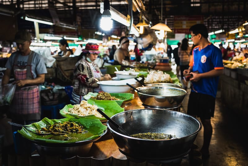 Delicious street food in Chiang Mai
