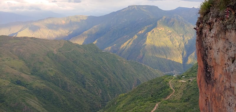 chicamocha canyon seen from climbing