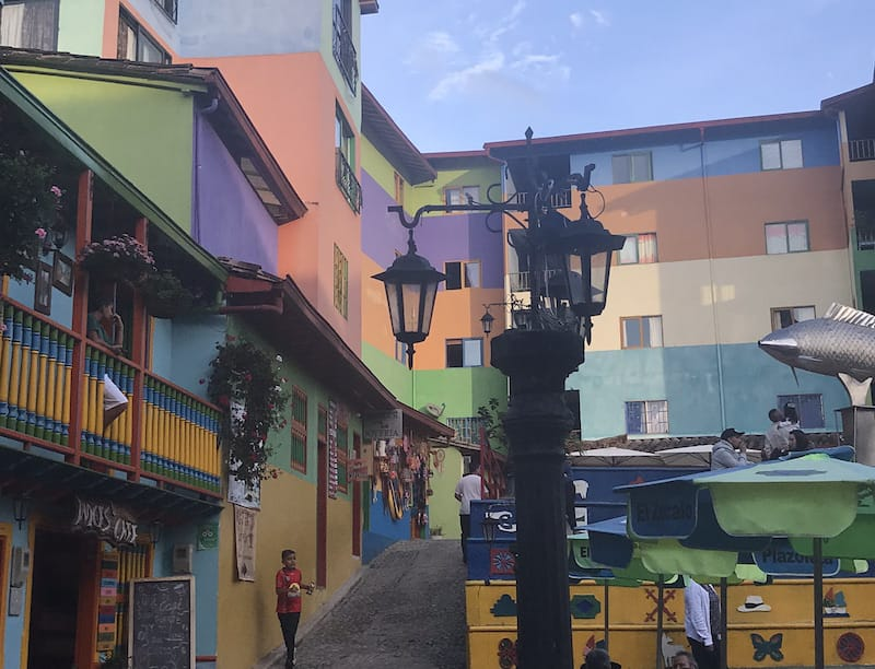Guatape Colombia streets